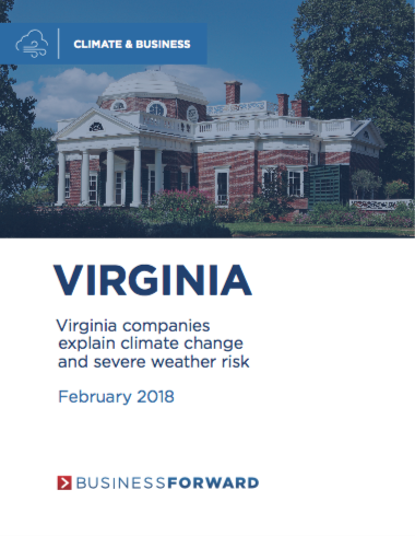Virginia companies explain climate change and severe weather risk